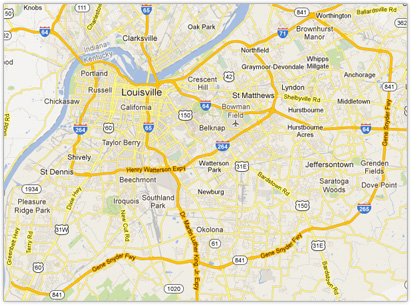 Louisville Metro Area Service Map